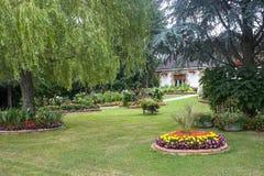 Evron - House and garden Royalty Free Stock Photos