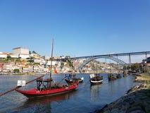Evrope Portugal porto gränsmärken royaltyfri fotografi