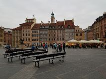Evrope Warsaw Poland oldcity punkt zwrotny fotografia royalty free