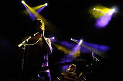 Evviva per terra la banda esegue a Apolo Immagini Stock Libere da Diritti