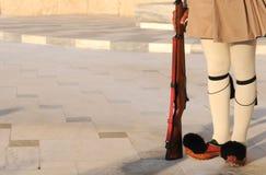 Evzon战士,雅典,希腊 免版税库存图片