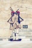 Evzone żołnierzy gwardia honorowa 3 Fotografia Royalty Free
