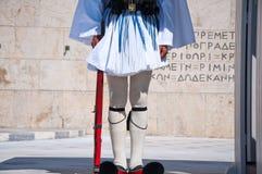 Evzone in Athen, Griechenland. Stockbilder