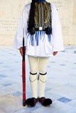 Evzone guarda o túmulo do soldado desconhecido Imagem de Stock Royalty Free
