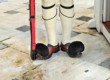 Evzones żołnierzy butów Grobowcowy Niewiadomy żołnierz Sodiers Ateny Greec Obraz Stock