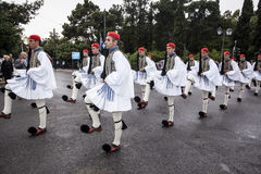 Evzones. The Greek Presidential Guards, Evzones Stock Photo