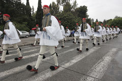 Evzones. The Greek Presidential Guards, Evzones Royalty Free Stock Photography
