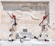 Evzones in Athen, Griechenland Lizenzfreie Stockfotografie