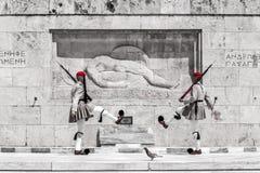 Evzones in Athen, Griechenland Lizenzfreies Stockbild