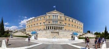 Evzones in Athen, Griechenland Lizenzfreie Stockbilder