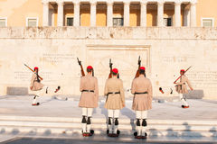 Evzones, Athens Greece Stock Photography
