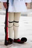 Evzones em Atenas Fotografia de Stock
