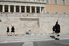 Evzones - greek parliament guards Royalty Free Stock Photography