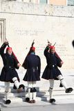 Evzones - greek parliament guards Royalty Free Stock Images