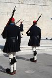 Evzones - greek parliament guards Stock Images