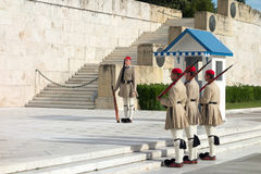 Evzones guard Royalty Free Stock Images