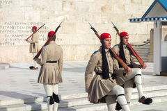 Evzones guard Stock Photos