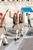 Evzones guard Stock Image