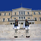 Evzones the presidential ceremonial guards Stock Image