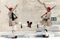 Evzones (presidential guards) Royalty Free Stock Photography