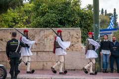 Evzones the presidential guards stock photography