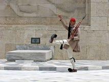 Evzones Protezione greca Fotografie Stock