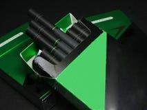 Ew-askar av cigarettpacken Arkivbilder