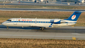 EW-276PJ Belavia Belarusian Airlines, Bombardier CRJ-200ER Royalty Free Stock Photos