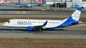EW-512PO Belavia Belarusian Airlines, Embraer 170-200LR royalty free stock photo
