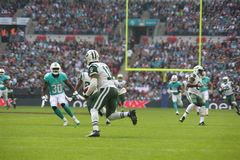 Ew York Jets International Series game versus the Miami Dolphins. October 4, 2015:  during the New York Jets International Series game versus the Miami Dolphins Royalty Free Stock Photography