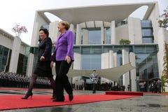 Ewa Kopacz, Angela Merkel Stock Images