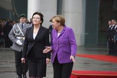 Ewa Kopacz, Angela Merkel Stock Photography