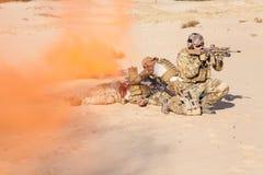 Ewakuacja w pustyni zdjęcie royalty free