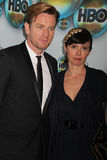 Ewan McGregor et épouse à la réception 2012 de poteau de Golden Globe Awards de HBO, Beverly Hilton Hotel, Beverly Hills, CA 01-15 Photos stock