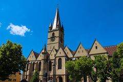 Ewangelicka katedra - Sibiu, Rumunia Obraz Stock