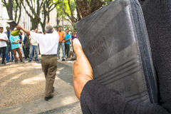 Ewangelicka kaznodzieja Zdjęcie Stock
