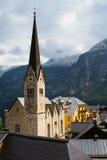 Ewangelicki kościół Hallstatt Zdjęcie Royalty Free