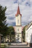 Ewangelicki kościół, Liptovsky Mikulas miasteczko, Sistani zdjęcia stock