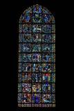 Ewangelii okno Chartres katedra, Francja obraz stock