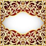 Ewelry-Hintergrund mit den Verzierungen gemacht von reichlich Lizenzfreie Stockfotografie