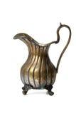 Ewer de bronze antigo no branco Imagem de Stock Royalty Free