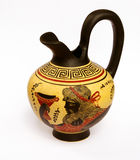 Ewer With A Picture Of Ancient Greek God Dionysus Royalty Free Stock Images