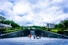Ewha kobiety uniwersytet - Intymny kobiety ` s uniwersytet w Seul obraz stock