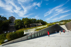 Ewha Womans University ECC Angled Blue Sky Royalty Free Stock Photo