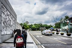 Ewha Womans University - Private women`s university in Seoul stock images