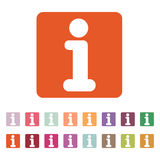 Ewidencyjna ikona Informacja i faq symbol mieszkanie Zdjęcia Royalty Free