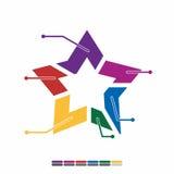 ewidencyjnego graficznego płaskiego projekta pełny kolor, wykres matematyki projekt Obraz Stock