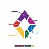 ewidencyjnego graficznego płaskiego projekta pełny kolor, wykres matematyki projekt Zdjęcia Stock