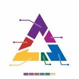 ewidencyjnego graficznego płaskiego projekta pełny kolor, wykres matematyki projekt Zdjęcie Royalty Free