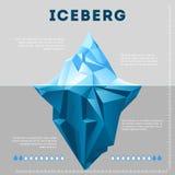 Ewidencyjny plakatowy projekt z górą lodowa ilustracja wektor